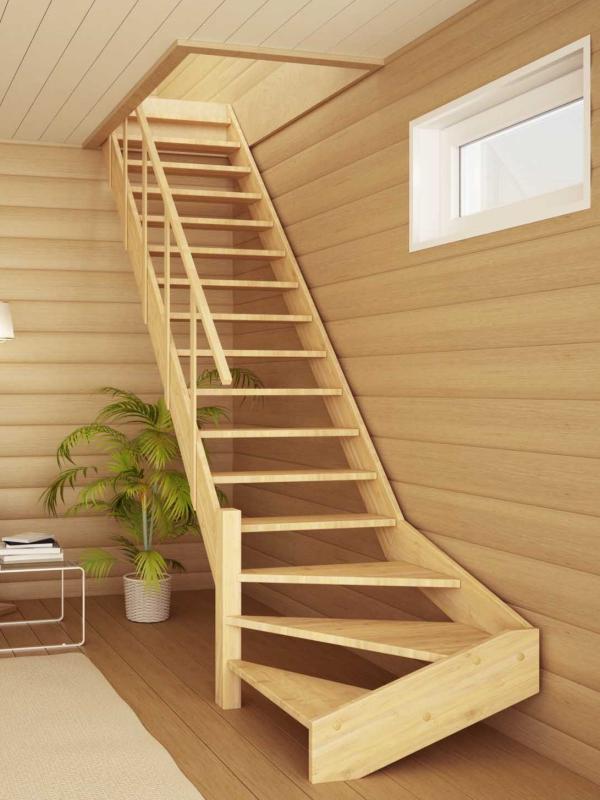 Удобные лестницы на второй этаж на даче своими руками