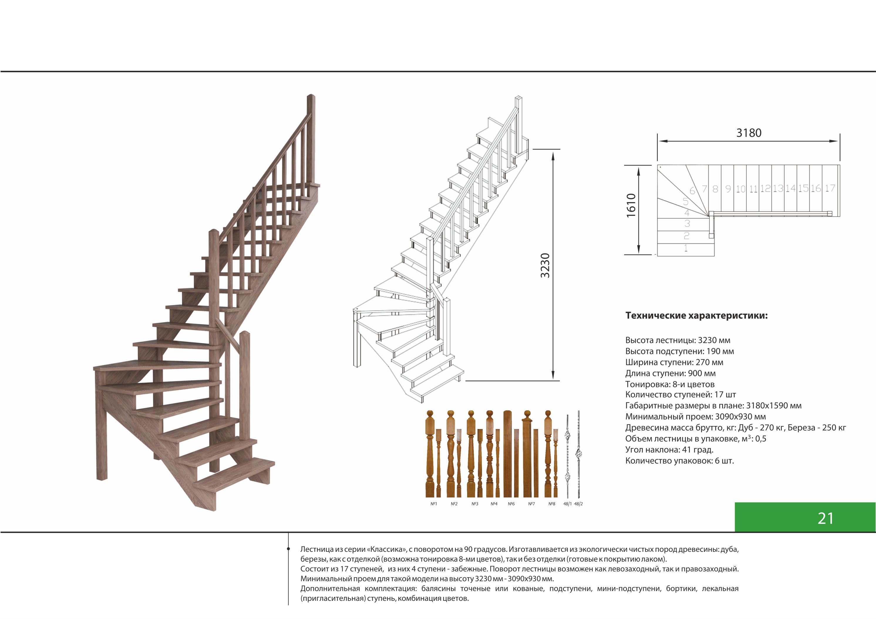 Схемы лестниц в доме