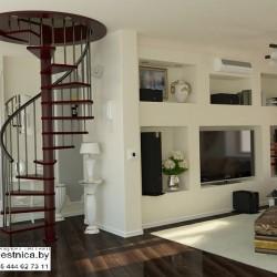 Винтовая лестница на второй этаж заказать
