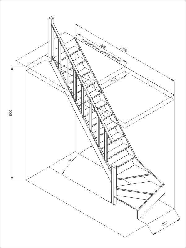 Деревянные лестницы «Фаворит