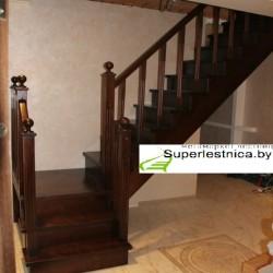 купить деревянные лестницы с поворотом на 90 градусов