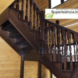 лестница на второй этаж деревянная