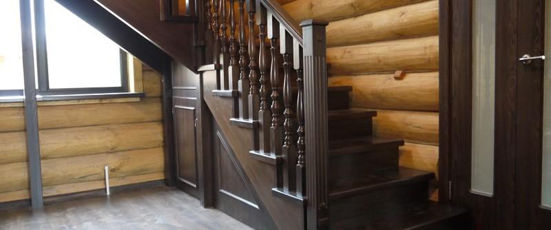 купить деревянную лестницу в Минске к-012 дуб