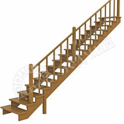 лестница на второй этаж из дерева