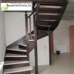 Купить деревянную лестницу под заказ для дома на второй этаж