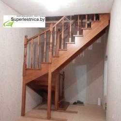 устройство деревянной лестницы с забежными ступенями