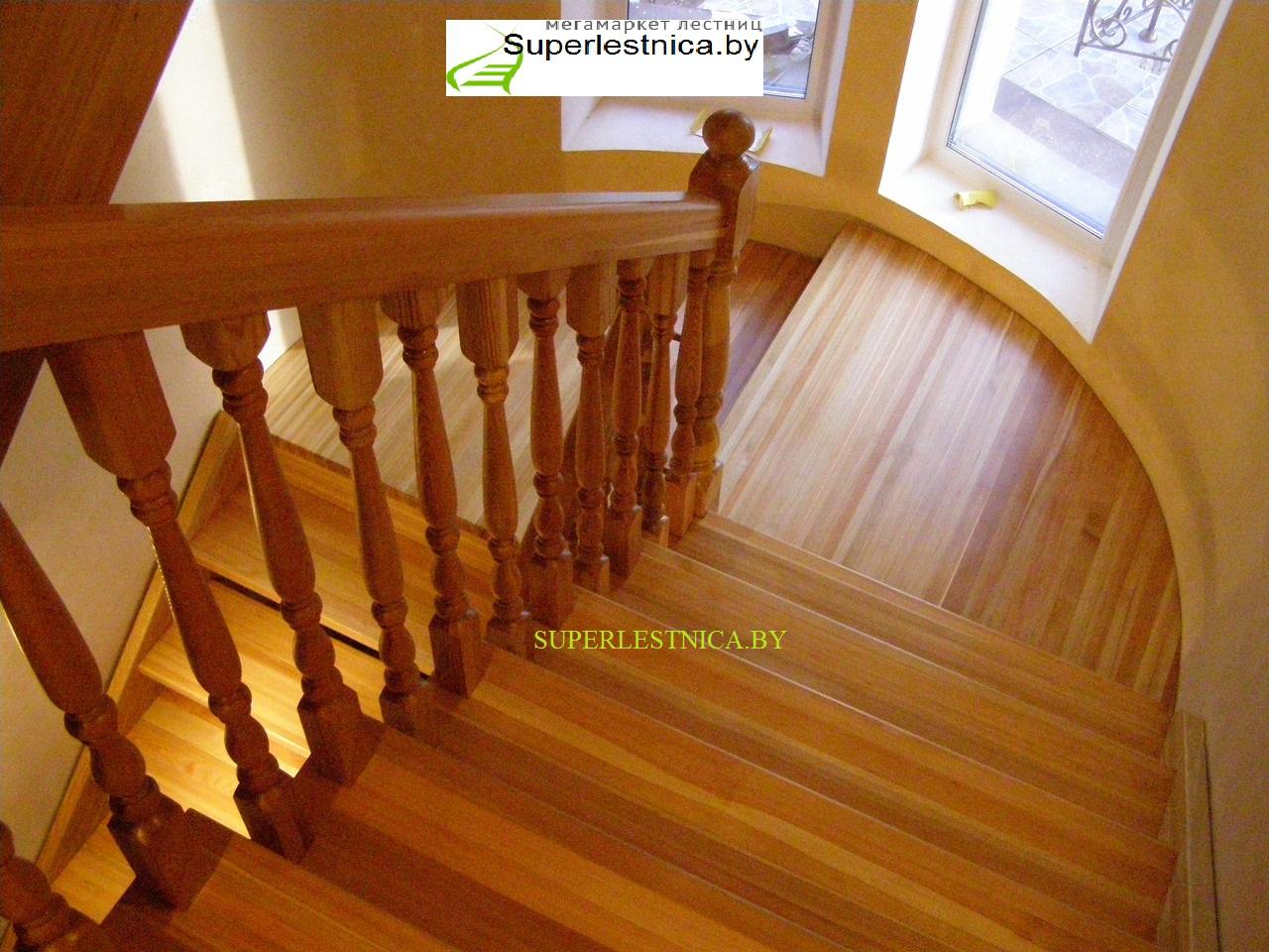 лестница лиственница23