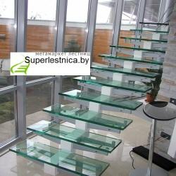 стеклянные лестницы под заказ недорого