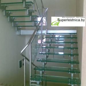 лестница стеклянная в Минске